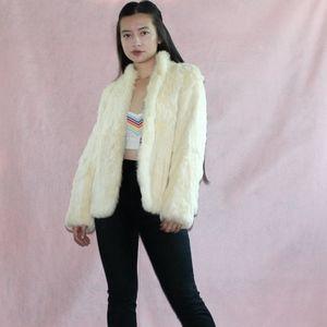 VTG 1980s Rabbit Fur jacket